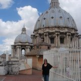 Climbed to the top of St. Peter's Basilica