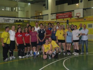 The team we played with in Rome