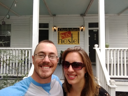 Front of NotSo Hostel In Charleston