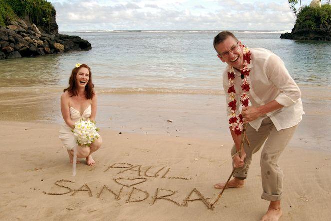 Paul and Sandra on Wedding Day in Samoa